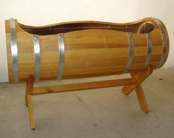 Pflanzfässchen aus Holz, 100x42cm | www.pflanzenkuebel.eu