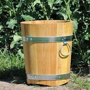 Pflanzkübel aus Holz, rund, 40x35cm | www.pflanzenkuebel.eu