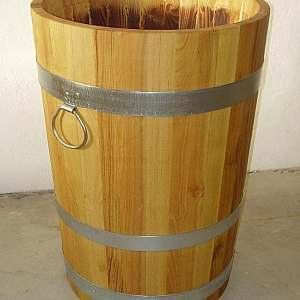 Pflanzkübel aus Holz, rund, schlank, 70x50cm | www.pflanzenkuebel.eu